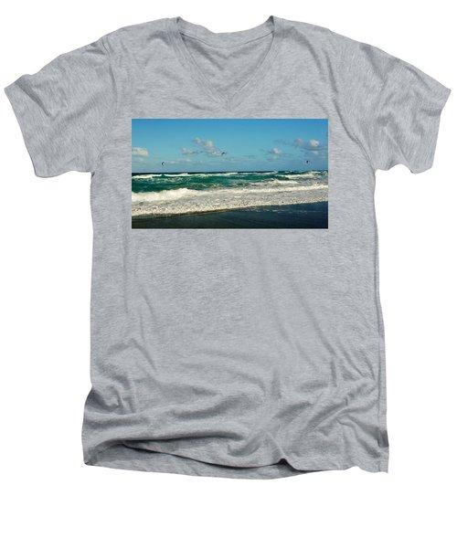 Kite Surfing Men's V-Neck T-Shirt