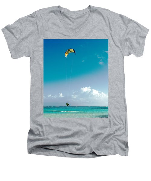 Kitebording Men's V-Neck T-Shirt
