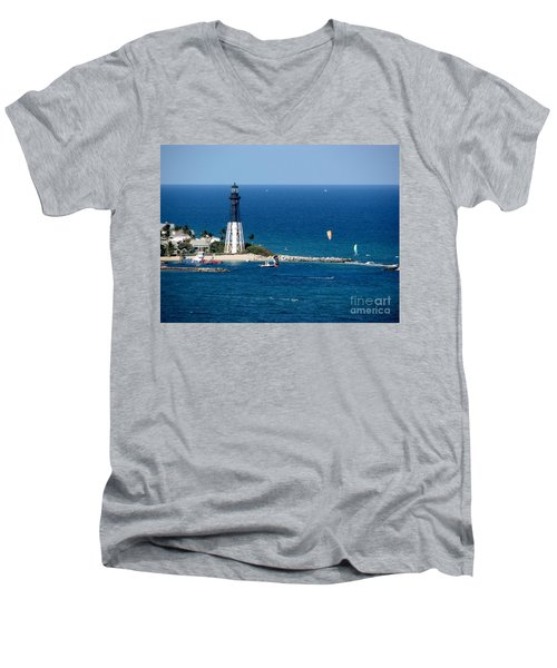 Kitesurfing And More At Pompano Men's V-Neck T-Shirt