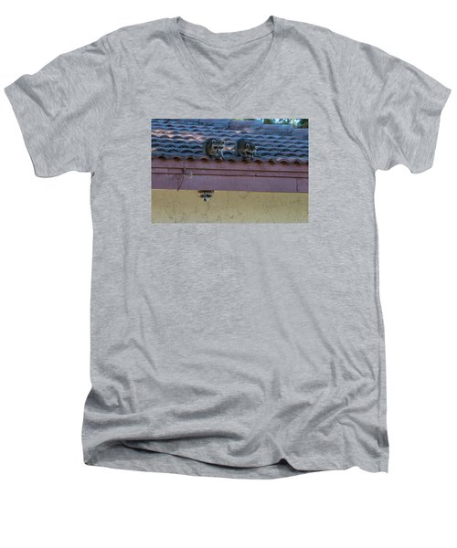 Kits On The Roof Men's V-Neck T-Shirt by Dorothy Cunningham