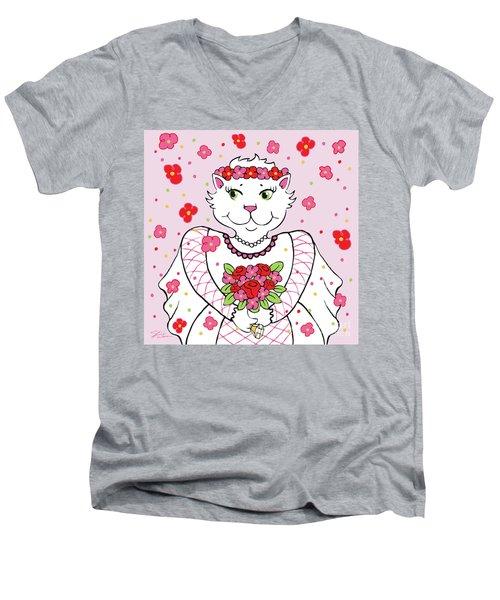 Kitty Bride Men's V-Neck T-Shirt