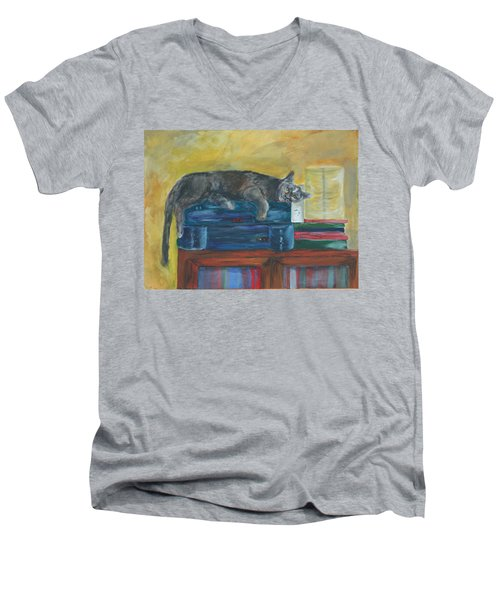 Kitty Comfort Men's V-Neck T-Shirt
