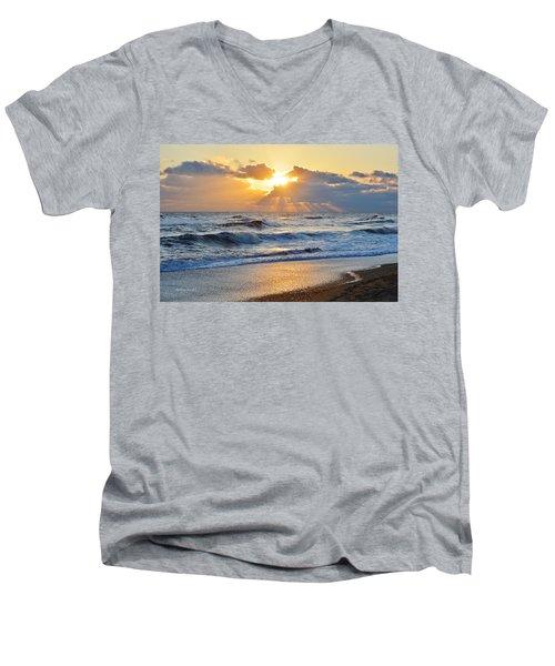 Kitty Hawk Sunrise Men's V-Neck T-Shirt