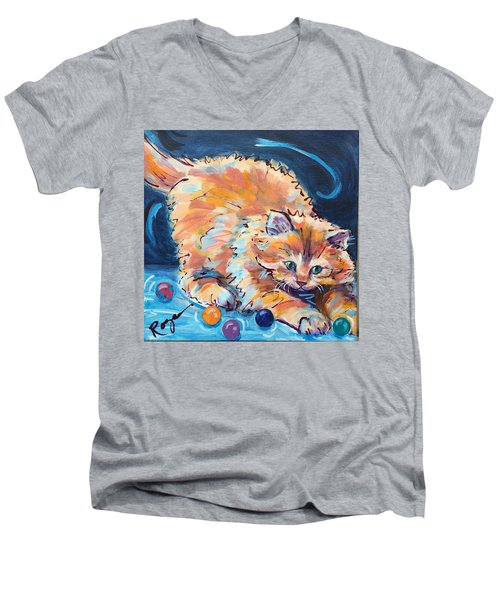 Kitty Keepsies Men's V-Neck T-Shirt