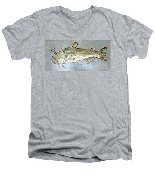 Kitty The Catfish Men's V-Neck T-Shirt