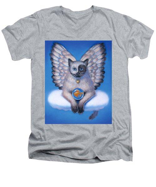 Kitty Yin Yang- Cat Angel Men's V-Neck T-Shirt