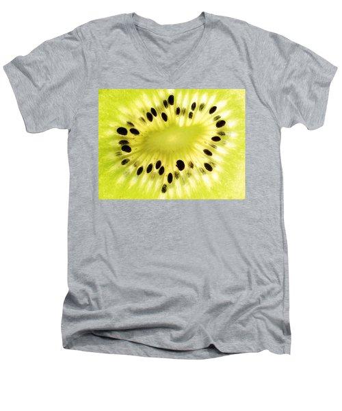 Kiwi Fruit Men's V-Neck T-Shirt by Paul Ge