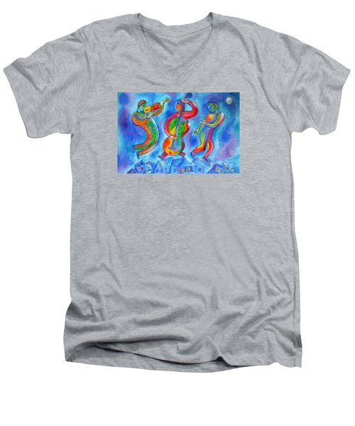 Klezmer On The Roof Men's V-Neck T-Shirt