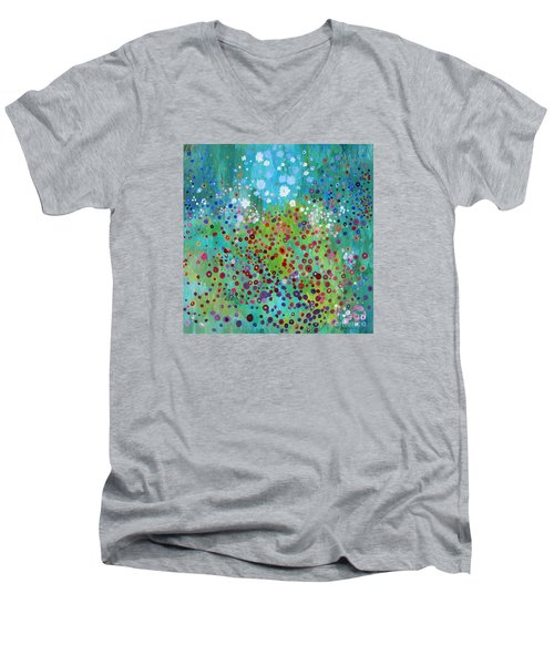 Klimt's Garden Men's V-Neck T-Shirt