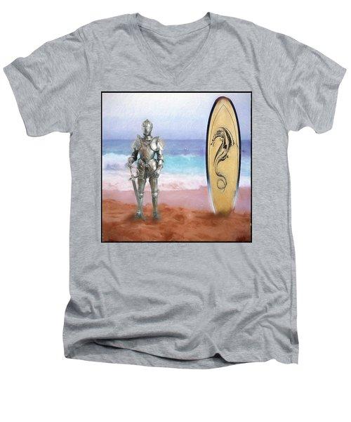 Knights Landing Men's V-Neck T-Shirt by Michael Cleere
