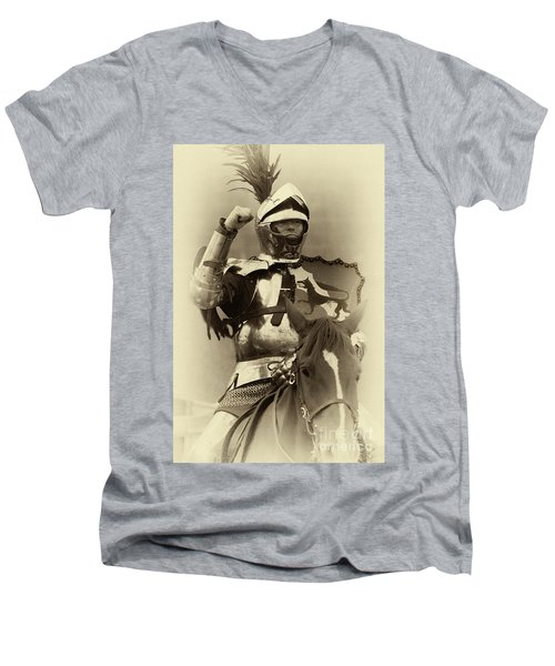 Knights Of Old 16 Men's V-Neck T-Shirt by Bob Christopher
