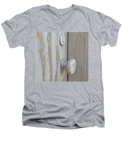 Knob Nostalgia Men's V-Neck T-Shirt by Suzy Piatt