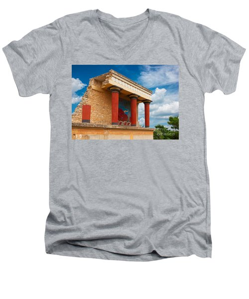 Knossos Palace At Crete, Greece Men's V-Neck T-Shirt