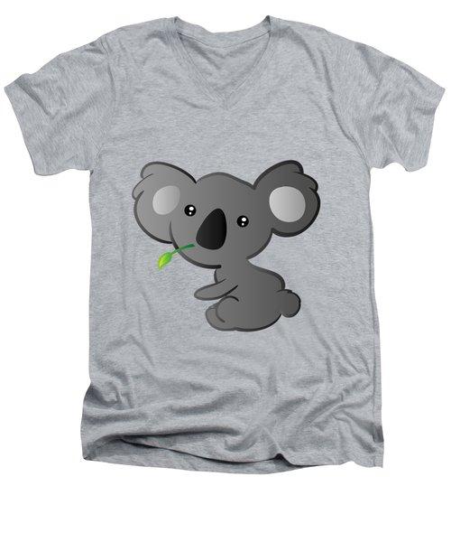 Koala Men's V-Neck T-Shirt by Hadeel ArT