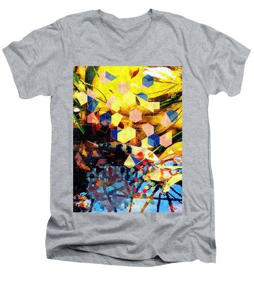 Koi  Men's V-Neck T-Shirt by Karl Reid