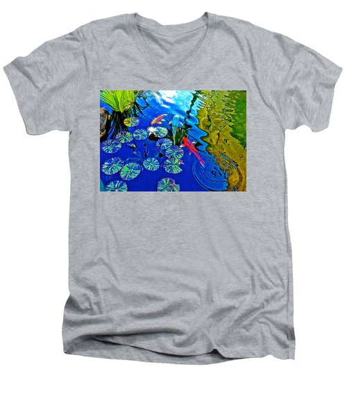 Koi Pond Men's V-Neck T-Shirt