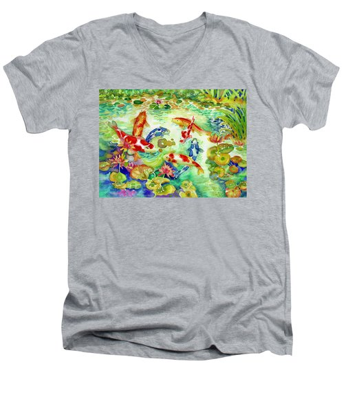 Koi Pond I Men's V-Neck T-Shirt