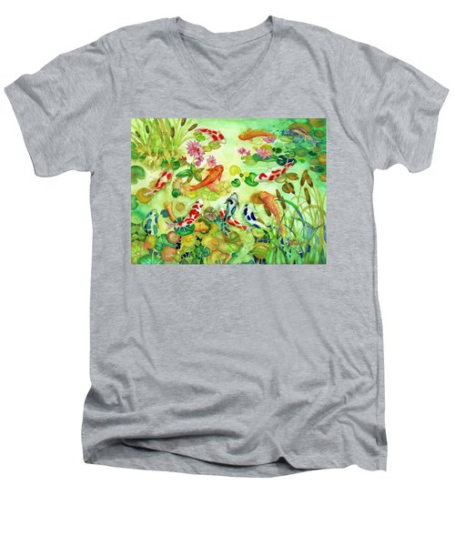 Koi Pond II Men's V-Neck T-Shirt