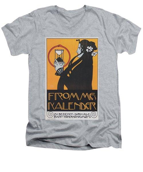 Koloman Moser Plakat  Fur Frommes Kalender 1899 Men's V-Neck T-Shirt