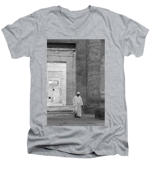 Kom Ombo Temple Men's V-Neck T-Shirt by Silvia Bruno