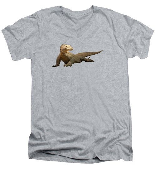 Komodo Dragon Tee Shirt Men's V-Neck T-Shirt