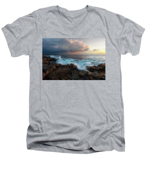 Men's V-Neck T-Shirt featuring the photograph Kona Gold by Ryan Manuel