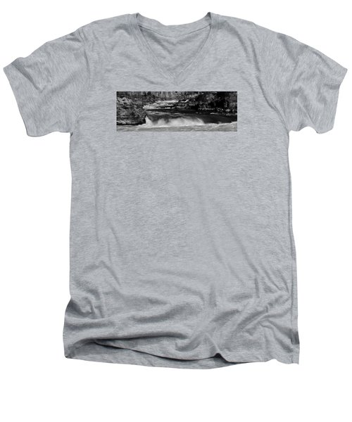 Kootenai Falls, Montana Men's V-Neck T-Shirt