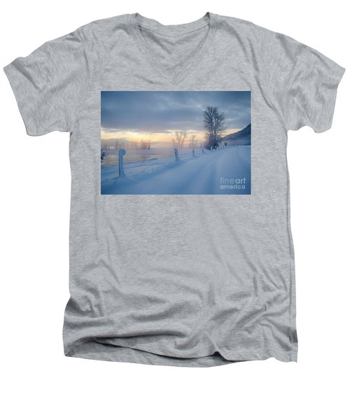 Kootenai River Road Men's V-Neck T-Shirt