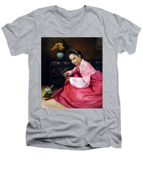 Korea Belle 3 Men's V-Neck T-Shirt