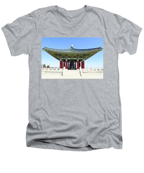 Korean Friendship Bell In Los Angeles Men's V-Neck T-Shirt
