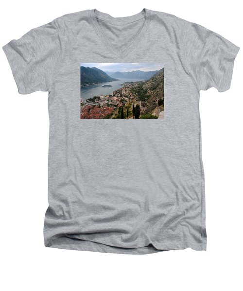 Men's V-Neck T-Shirt featuring the photograph Kotor Bay by Robert Moss