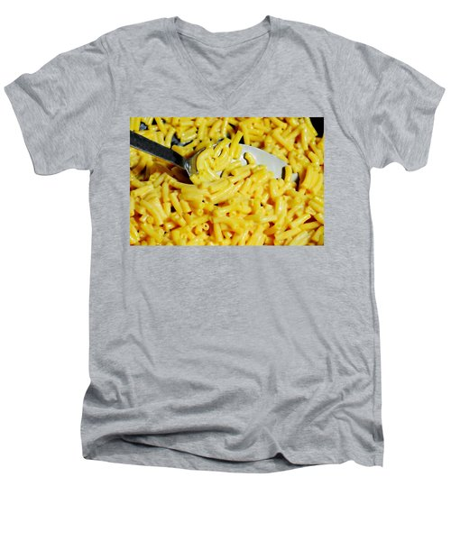 Kraft Mac'n Cheese Men's V-Neck T-Shirt by Diana Angstadt