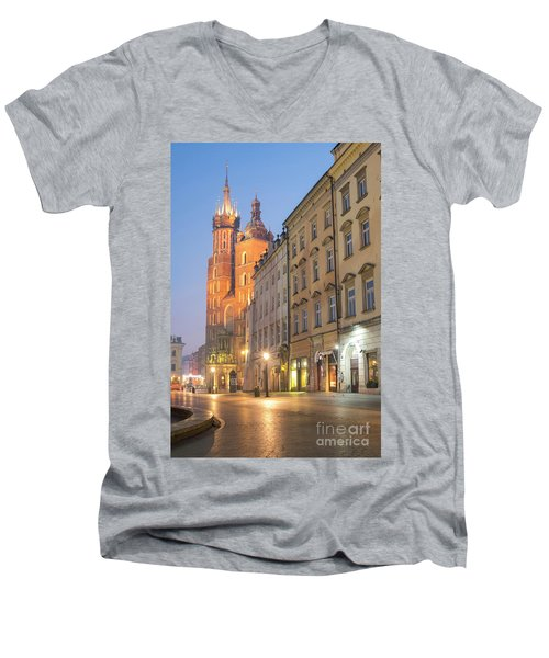 Men's V-Neck T-Shirt featuring the photograph Krakow by Juli Scalzi