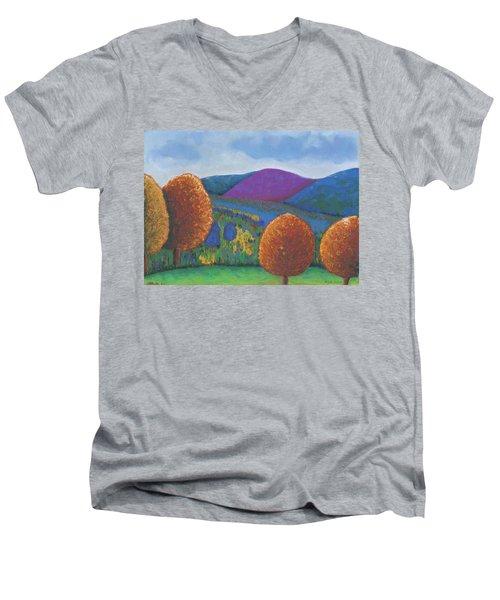 Kripalu Autumn Men's V-Neck T-Shirt