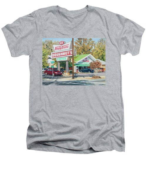 Krispy Kreme At Daytime Men's V-Neck T-Shirt