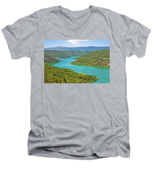 Krka River National Park View Men's V-Neck T-Shirt by Brch Photography