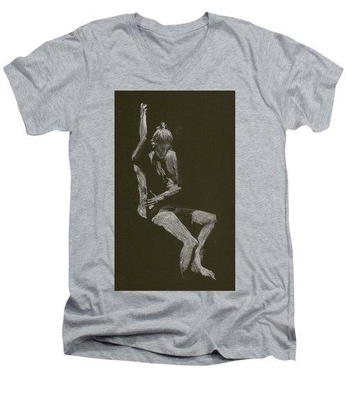 Kroki 2014 10 04_12 Figure Drawing White Chalk Men's V-Neck T-Shirt