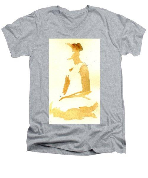 Kroki 2015 03 28_29 Maalarhelg 3 Akvarell Watercolor Figure Drawing Men's V-Neck T-Shirt