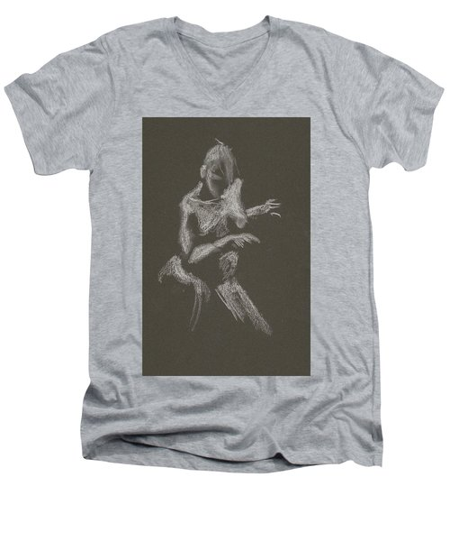Kroki 2015 10 03_12 Figure Drawing White Chalk Men's V-Neck T-Shirt