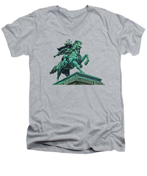 Kusunoki Masashige Close Up Men's V-Neck T-Shirt by Scott Carruthers