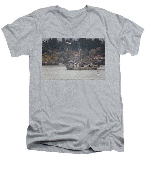 Kwiaahwah Men's V-Neck T-Shirt by Randy Hall