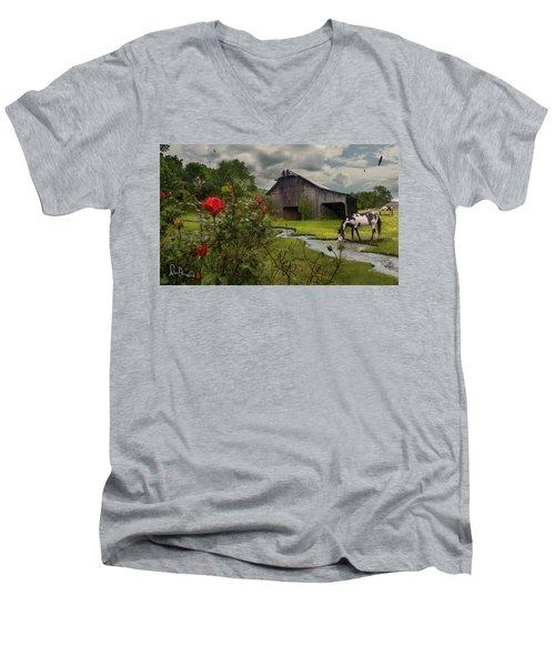 La Buena Vida Men's V-Neck T-Shirt by Don Olea