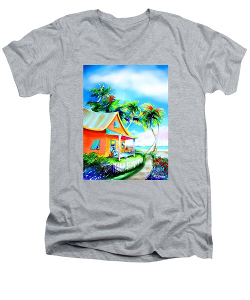 La Casa Cayo Hueso Men's V-Neck T-Shirt