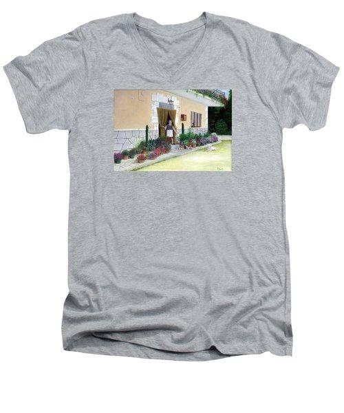 La Casa De Nonna Loreta Men's V-Neck T-Shirt by Albert Puskaric