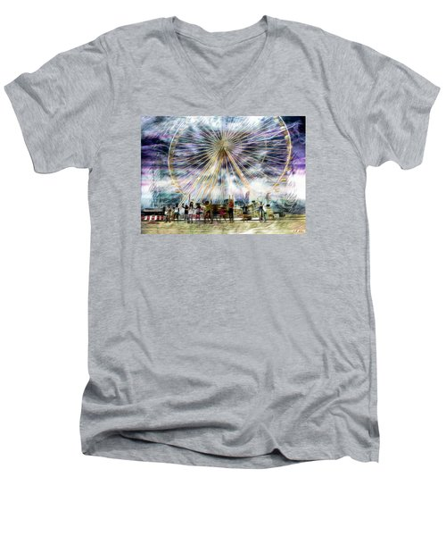 Flash Mob,k-pop, 2ne1 Men's V-Neck T-Shirt