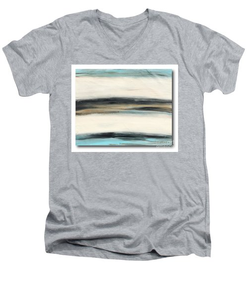 La Jolla #3 Seascape Landscape Original Fine Art Acrylic On Canvas Men's V-Neck T-Shirt