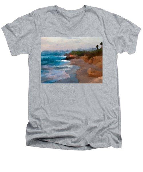 La Jolla California  Men's V-Neck T-Shirt