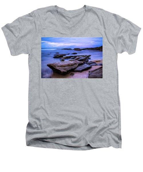 La Jolla Cove Twilight Men's V-Neck T-Shirt