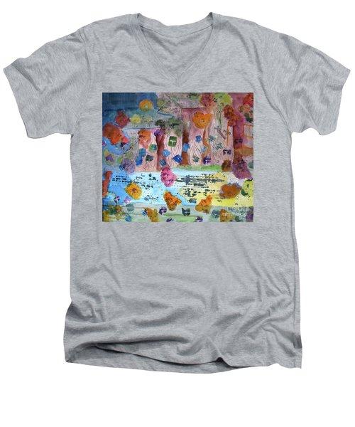 La-la Land Men's V-Neck T-Shirt