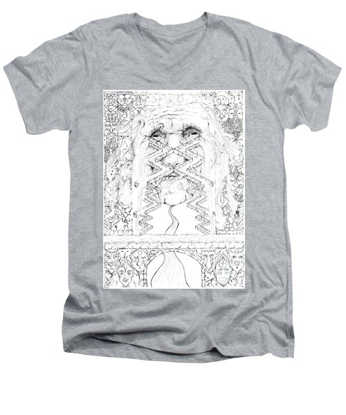 La Llorona Sombra De Arreguin Men's V-Neck T-Shirt